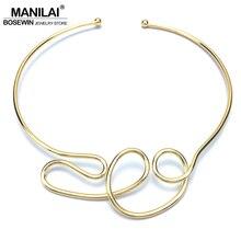 MANILAI, геометрический сплав, чокеры, ожерелье s для женщин, модное ювелирное изделие, нагрудник, ожерелье, массивный панк дизайн
