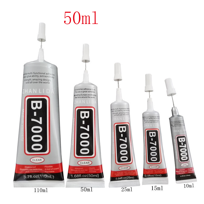 50 ML Office Essential Tool Liquid B7000 Glue Multipurpose Super Glue Sealants DIY For Jewelry Crystal Touchscreens Phone Screen