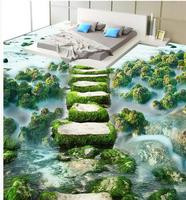 Photo Wallpaper Mural Floor Custom Photo Self Adhesive 3D Floor Ocean Beach Bathroom 3d Wallpaper Floor