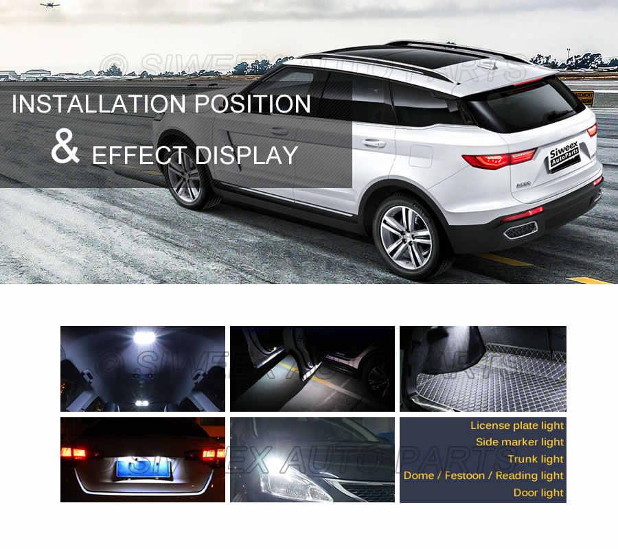 1 Pcs 194 T10 W5W Lampu LED 2835 2SMD LED Kaca Sisi Wedge Membaca Interior Dome Sinyal Lampu Lampu Kendaraan 168 DC 12 V Putih