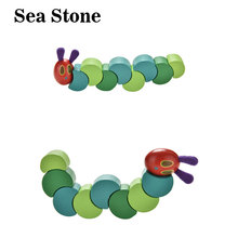 3D Baby wood toys Candy Color Flexible Twisting Caterpillar Wooden Toy for kids gifts wooden blocks dexterity exercises toy