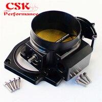 Intake Throttle Body+ Adapter Plate For G M GEN III LS1 LS2 LS3 LS6 LS7 LSX 92mm