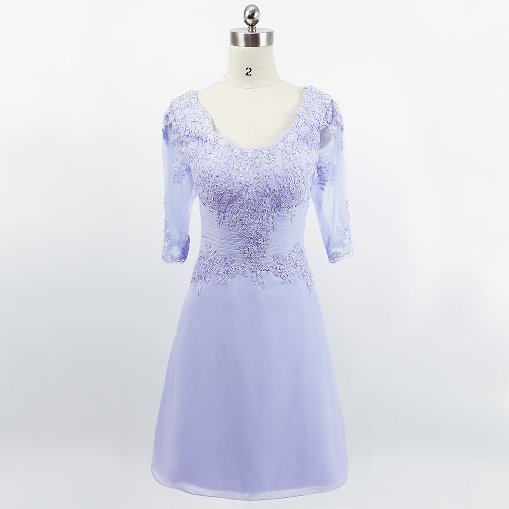 Buy purple formal short brides mother for Dresses for afternoon wedding