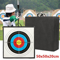 Archery Target High Density EVA Foam Shooting Practice Board Recurve Cross Bow Outdoor Sport Hunting Accessories 50x50x20cm