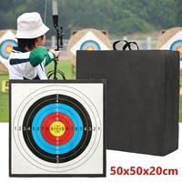 Archery Target High Density EVA Foam Shooting Practice Board Recurve Cross Bow Outdoor Sport Hunting Accessories 50x50x20cm