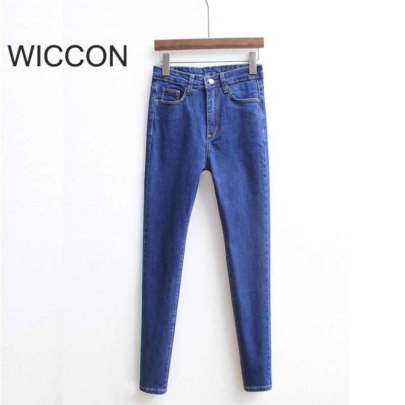 Slanke jeans voor vrouwen Skinny hoge taille jeans Vrouw blauwe denim - Dameskleding - Foto 4