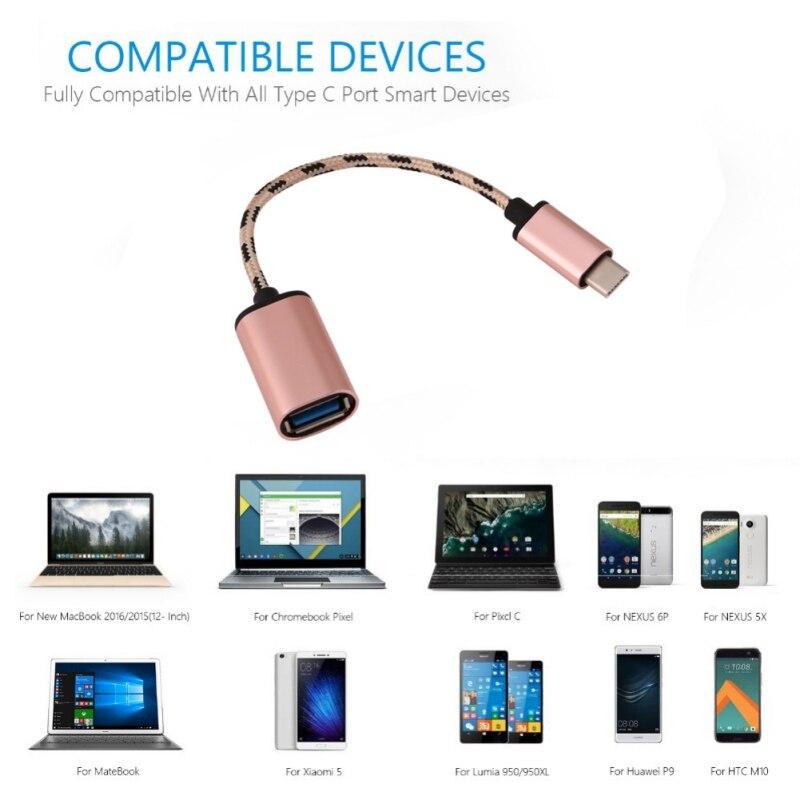 Тип-C USB3.0 OTG Кабель-адаптер высокое Скорость кабель OTG U диск разъем для смартфонов 17,8 см