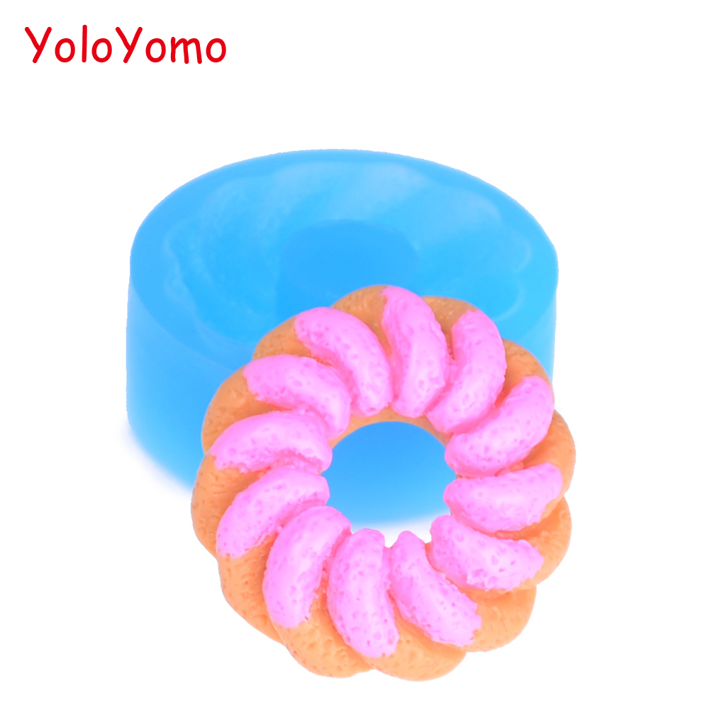 Square Donut polymer clay cutter US SELLER!!