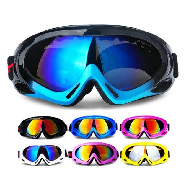 Free shipping Winter Snow Sports Skiing Snowboard Snowmobile Anti-fog Goggles Windproof Dustproof Glasses Ski Sunglasses Eyewear