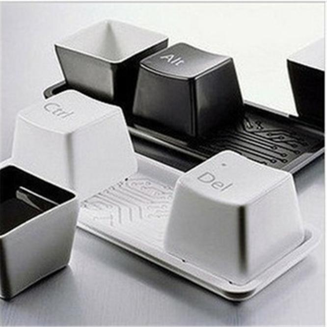 <font><b>Fashion</b></font> Creative Design <font><b>keyboard</b></font> Key <font><b>CUP</b></font> black/white Coffee mug <font><b>cup</b></font> minimalist style for Gifts