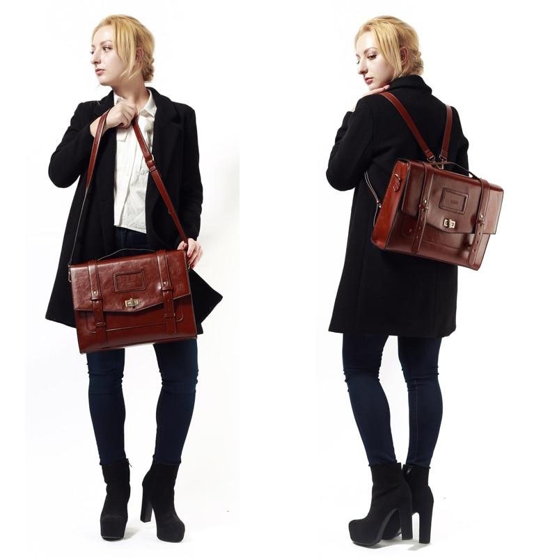 ECOSUSI New Design női Messenger táskák Vintage PU bőr táska - Kézitáskák - Fénykép 6