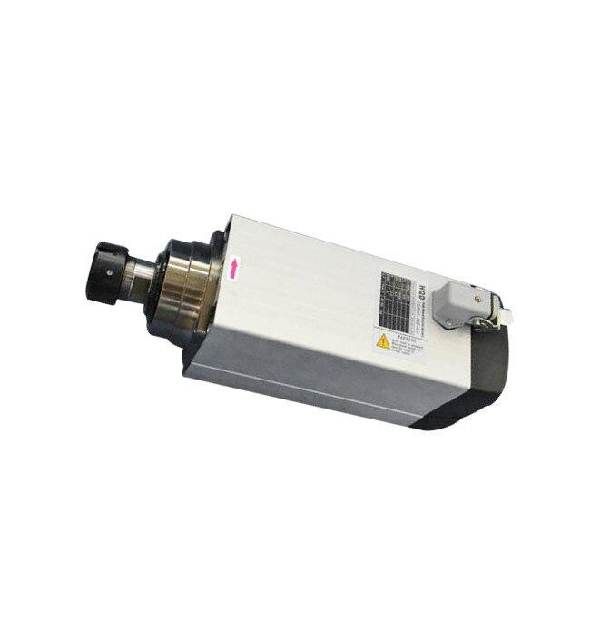 6kw 220 v/380 v er32 18000rpm quadrado refrigerado a ar do motor do eixo