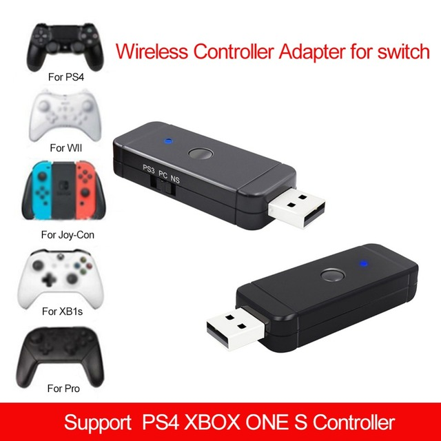 US $15 86 27% OFF|NEW Wireless Controller Adapter for Nintendo Switch PS3  PS4 Joy Con Xbox One Plug and Play-in USB Receiver Adapter from Consumer