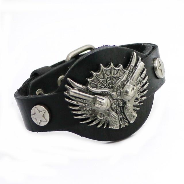 Модные ювелирные изделия Сплав пистолет мужской браслет Высокое