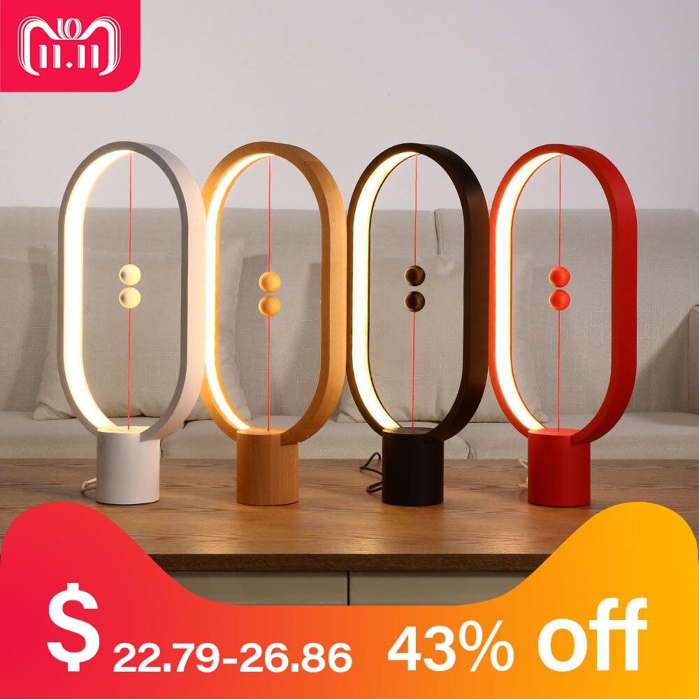Allocacoc Heng equilibrio lámpara LED de luz de la noche con alimentación USB hogar Decoración dormitorio de oficina mesa de noche lámpara novela luz regalo para los niños