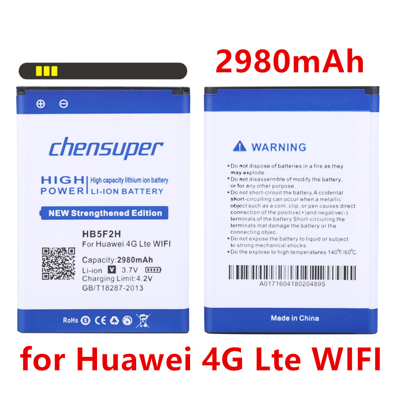 Chensuper 2980mah Hb5f2h Battery For Huawei 4g Lte Wifi Router 4g E5375 Ec5377 E5373 E5330 E5336 E5372 Mobile Phone Parts