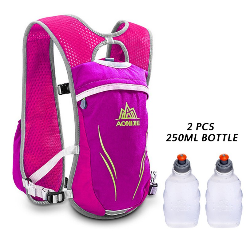 55L Running Bag Outdoor Nylon Backpack Climbing Hiking Cycling Accessories With Water Bottle Sport Bag