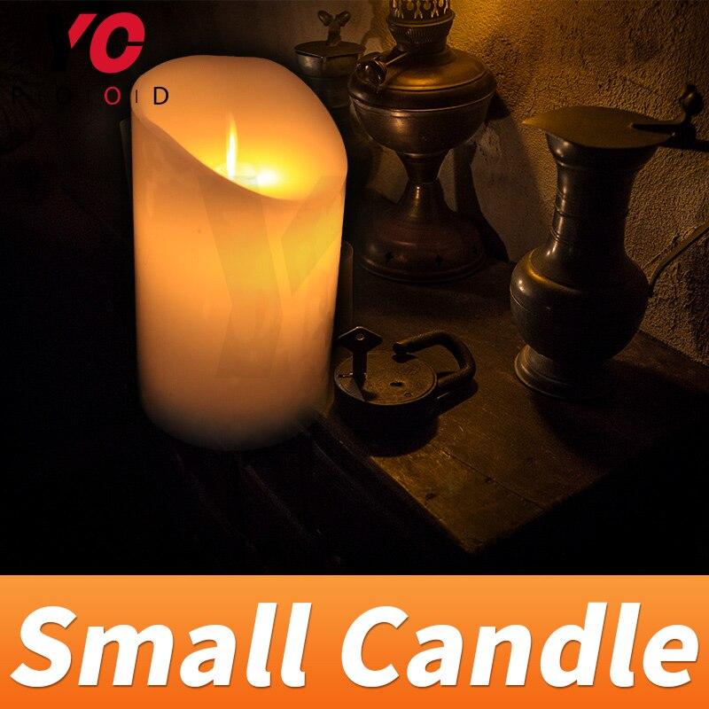Маленькая свеча prop escape room игра для украшения нажмите на пульте дистанционного управления, чтобы контролировать свечу быть подсветкой ВКЛ и...