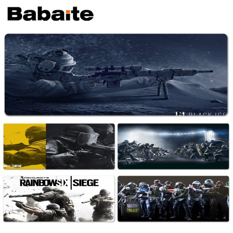 Babaite New Designs Game Rainbow Six Siege Keyboard Gaming MousePads Size for 300*900*2mm and 400*900*2mm Design Mouse Pad