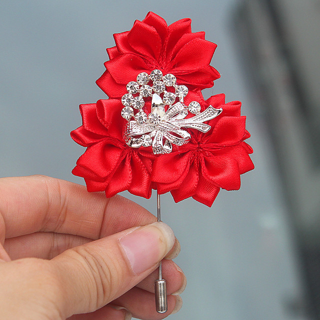 6piecelot red diamond artificial flowers corsage groomsman wedding 6piecelot red diamond artificial flowers corsage groomsman wedding boutonnieres pin brooch bridal for suit mightylinksfo