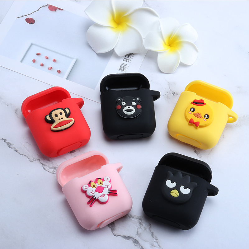 Earphone Accessories Romantic Cute Diy Silicone Case For Apple Airpods Accessories Special 3d Animal Soft Case Cover With Anti-lost Strap Decoration Gifts Toy