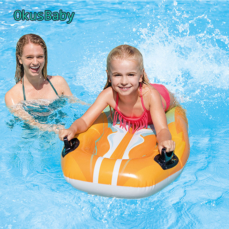 Kids Summer Inflatable Surfboard Outdoor Water Surfing Sports Swimming Pool Float Raft Board Beach Children Sliding Boat Toy