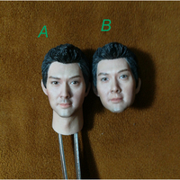 Two Versions 1/6 Chinese Famous Star William Feng Head Sculpt for 12'' Action Figures Bodies