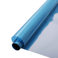 HOHOFILM Width: 152cm Blue&Silver Mirrored Solar tint Glass Sticker UV Proof Window Film 10m/20m/30m