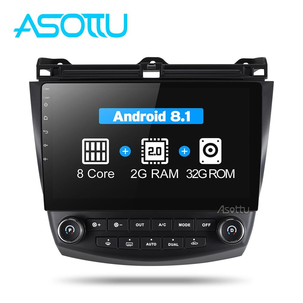 Asottu android 8 1 car dvd gps navigation player for Honda Accord 7 2003 2007 car