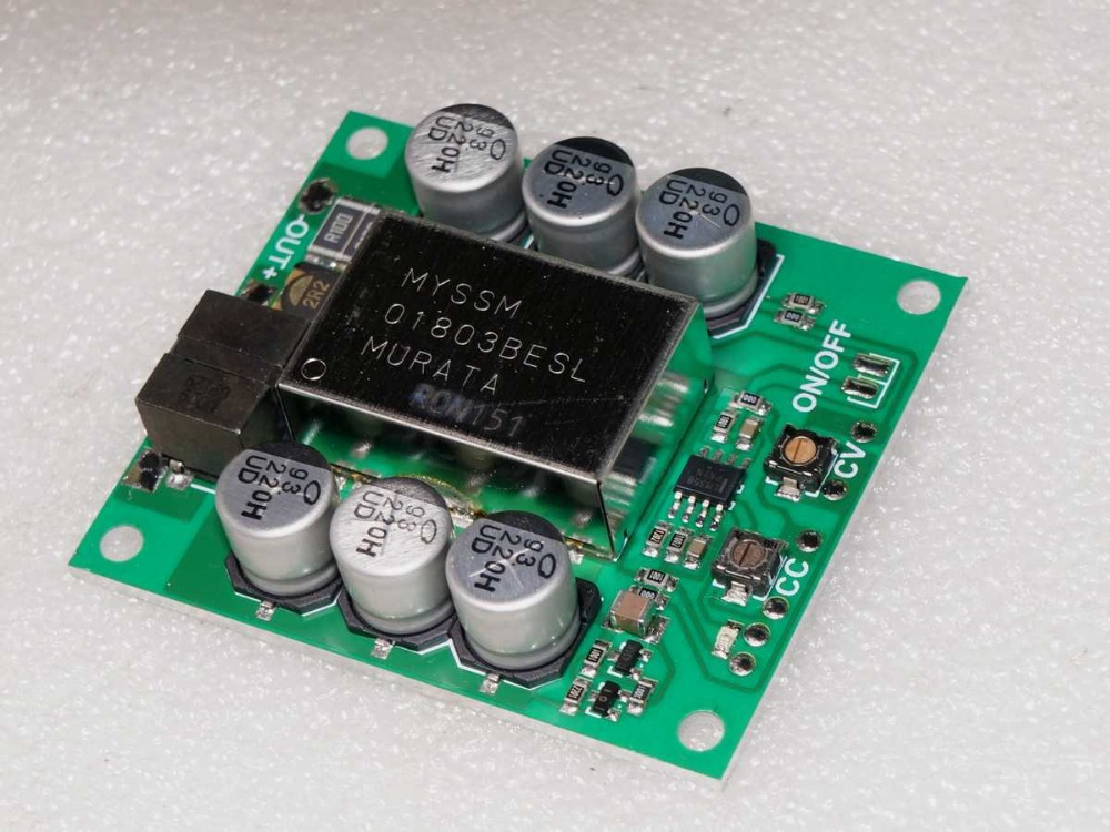 High Efficiency 0.8-40V 0-6A stepless adjustable constant voltage constant current module