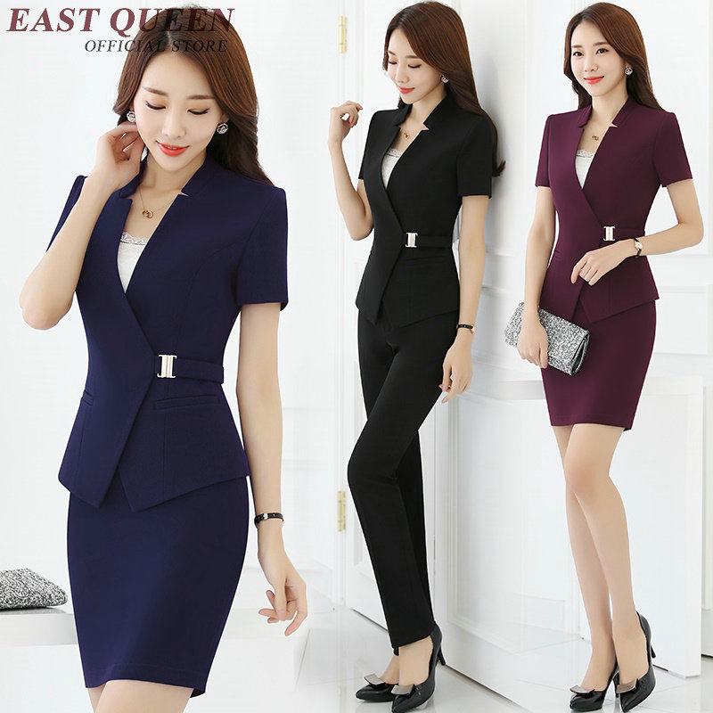 Womens skirt suit women elegant skirt suits office uniform designs women clothing social female AA2333 Y