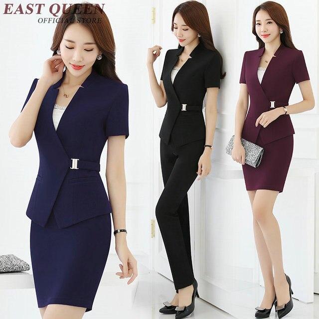 3021c51c72e74 Mujer traje de falda de las mujeres elegantes trajes de falda de oficina  uniforme diseños mujeres