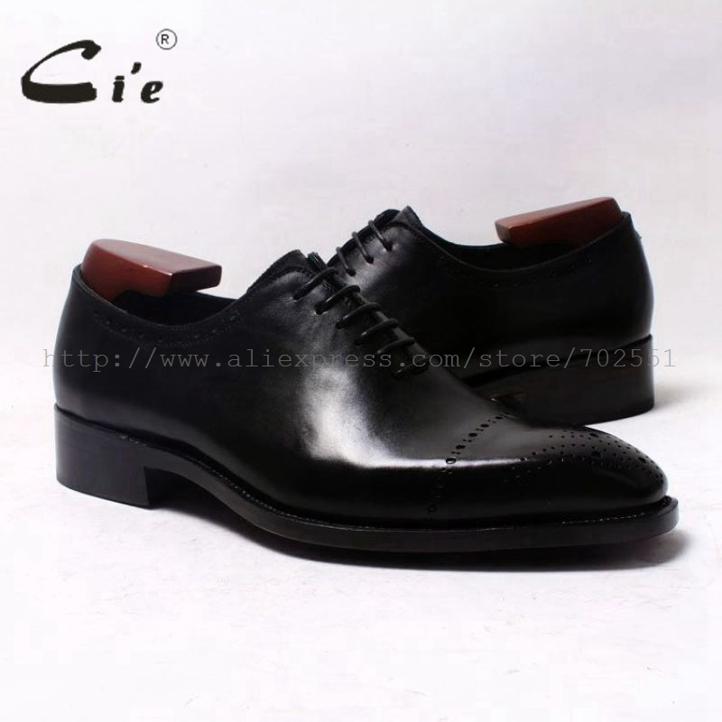 cie Square Toe Wholecut Semi-Brogues Oxfords Black 100%Genuine Calf Leather Men Leather Shoe Bespoke Men Leather Handmade OX344 купить часы haas lt cie mfh211 zsa