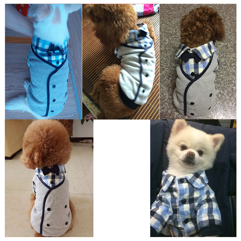 Male Dog Clothes Winter Boy Dog Wedding Suit tuxedo Shirt Pet Dog ...