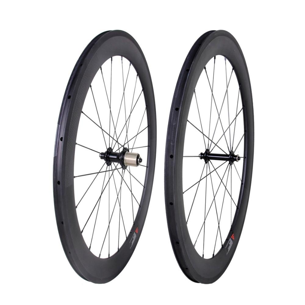 60mm Sapim Carbon Rear Wheel Clincher Road Bike 700C Basalt Rim 23mm 3k matt