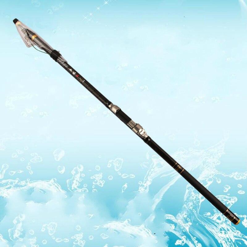 Portable Carbon Fiber Rock Fishing Rod Telescopic Fishing Pole 3.6/4.5/5.4/6.3M Super Short Power XH Throwing Fishing Tackle portable 5 section telescopic fishing rod pole 2 1m length