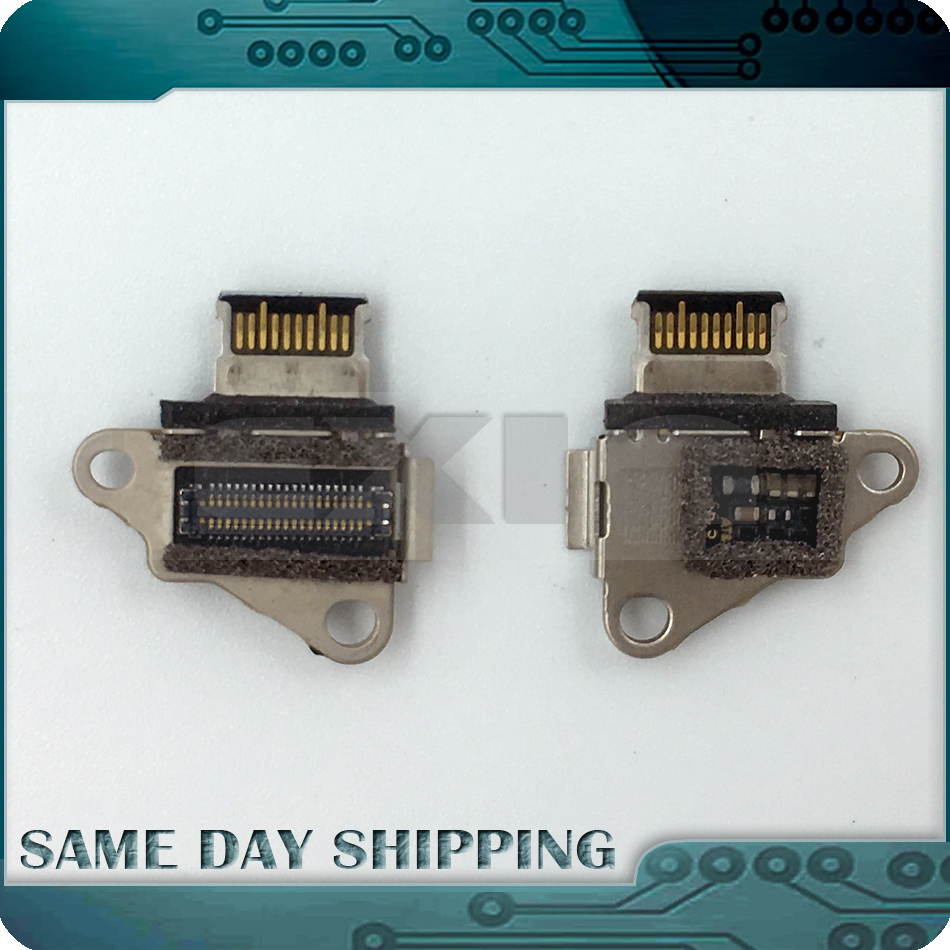 Laptop A1534 DC-IN I/O USB C Charging Power DC Jack Board Connector for MacBook Retina 12 A1534 2015 Year MF855 MF865 EMC2746 i o board usb sd card reader board 820 3071 a 661 6535 for macbook pro retina 15 a1398 emc 2673 mid 2012 early 2013