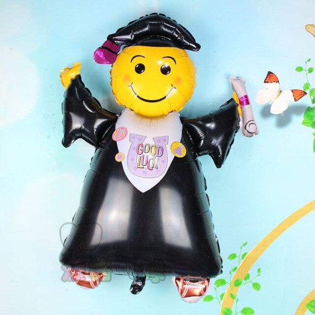 21cfabf15 1 قطعة 72*103 سنتيمتر الكبير الطالب التخرج الطبيب احباط البالونات الابتسامة  حفل التخرج حزب زخرفة الكرة جيدة الحظ baloes