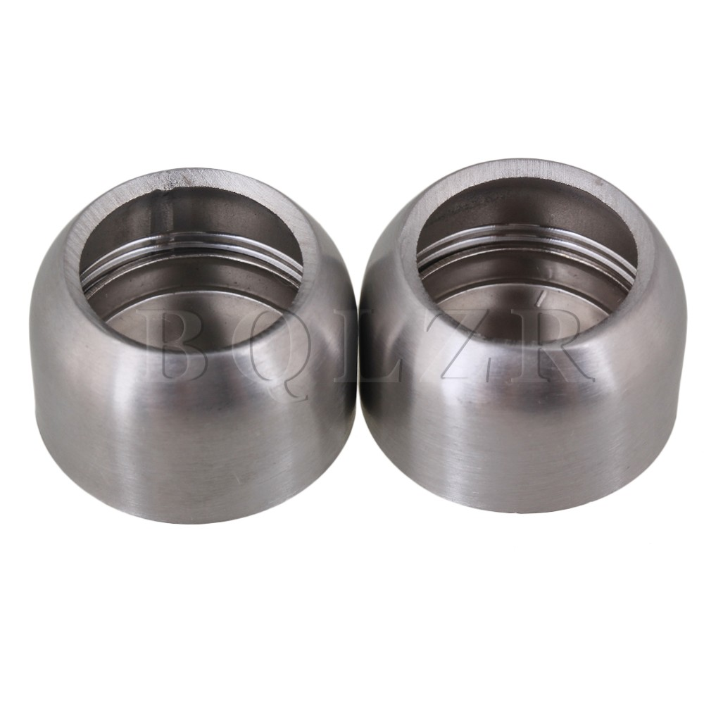 BQLZR 20mm Stainless Steel Spherical Closet Rod Socket Holder Bracket Pack  Of 2(China (