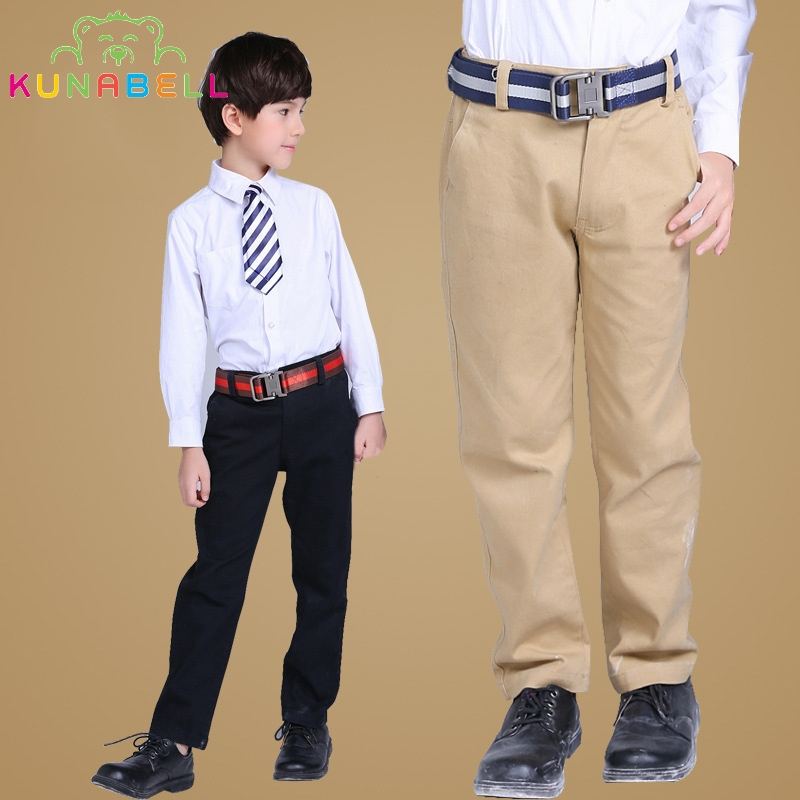 Kids 2017 Spring&Autumn 2-14T Boys Girls Solid Casual Pants Teen Clothing Leisure Children Vague School Teens Trousers L345 ...