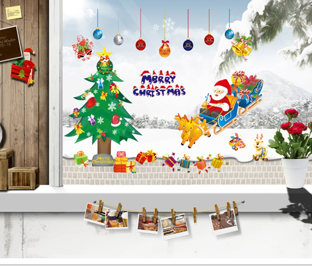 compare prices on christmas poster online shopping buy low price merry christmas christmas gift decor art poster wall stickers kids room fashion decor wall sticker