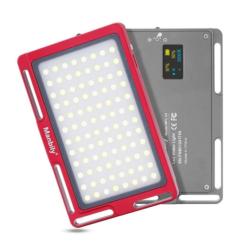 Manbily MFL-03 3500-5700K Mini LED caméra vidéo lumière Dimmable 96 LED lampe d'éclairage photographique pour reflex numérique Canon Nikon Pentax