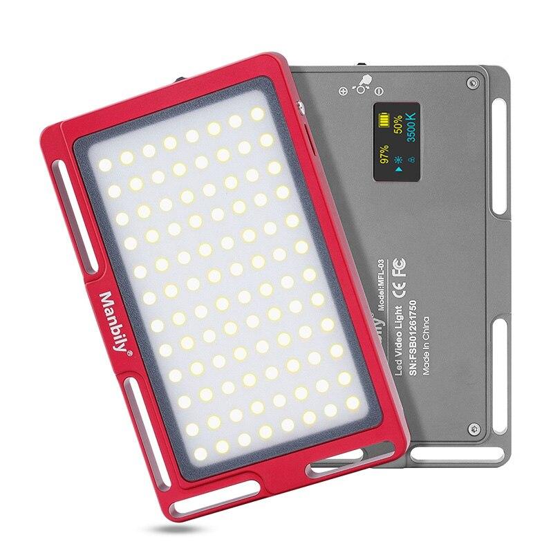 Manbily MFL 03 3500 5700K мини светодиодный светильник для видеокамеры с регулируемой яркостью 96 LED фотографический светильник для DSLR Canon Nikon Pentax|Фотографическое освещение|   | АлиЭкспресс - Для сочных фотографий