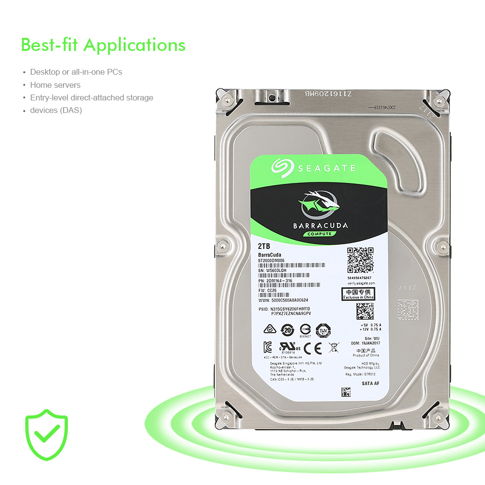цена Seagate 2TB Desktop HDD Internal Hard Disk Drive 7200 RPM SATA 6Gb/s 64MB Cache 3.5 inch ST2000DM005/ST2000DM006 HDD-computer