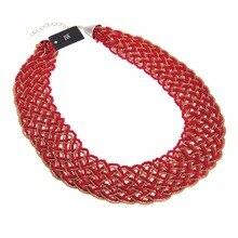 цены на BK Fashion Multicolor Gold Chain Resin Seed Beads Chunky Choker Statement Pendant Bib Necklace  в интернет-магазинах