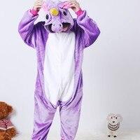 Vanled 2017 Unicorn Cosplay Halloween Costume For Children Winter Animal Onesie Unicorn Pajamas Kids Pijama Infantil