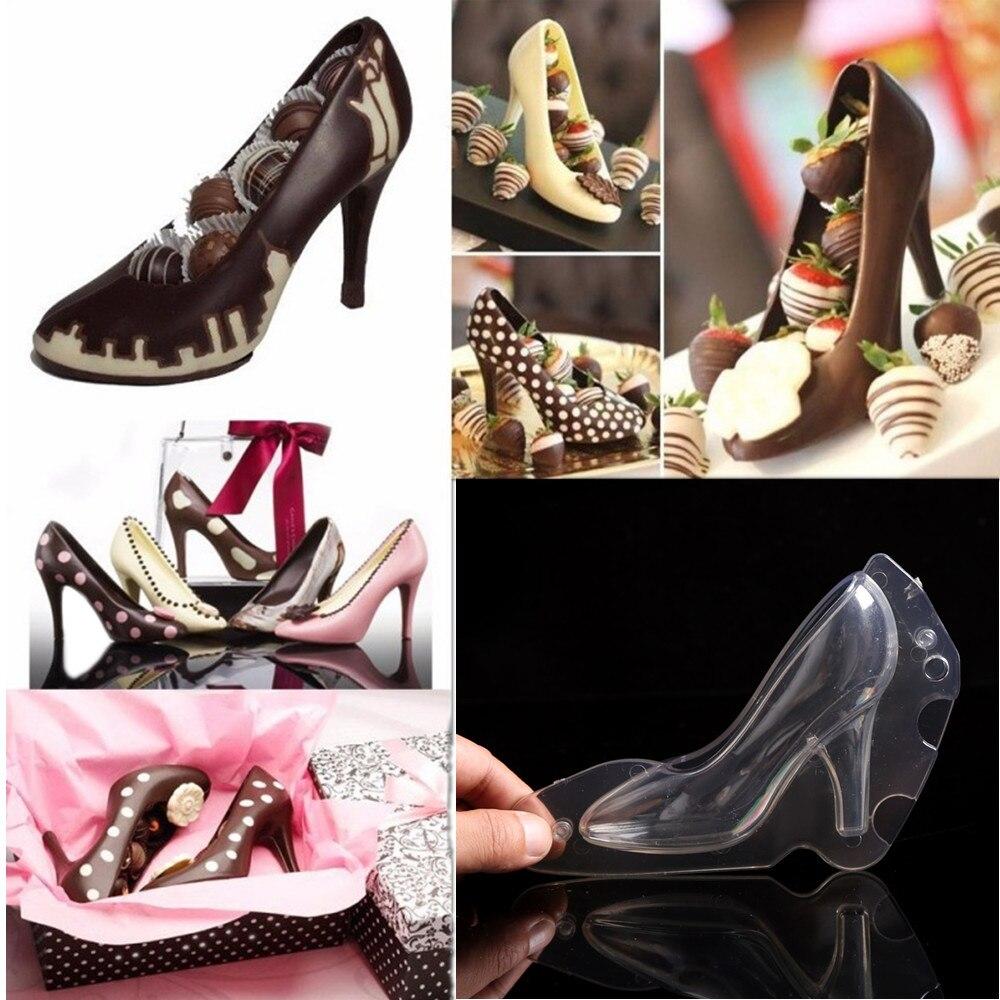 DIY 3D slatka stereo visoku petu cipela čokolade plijesni Lady - Kuhinja, blagovaonica i bar