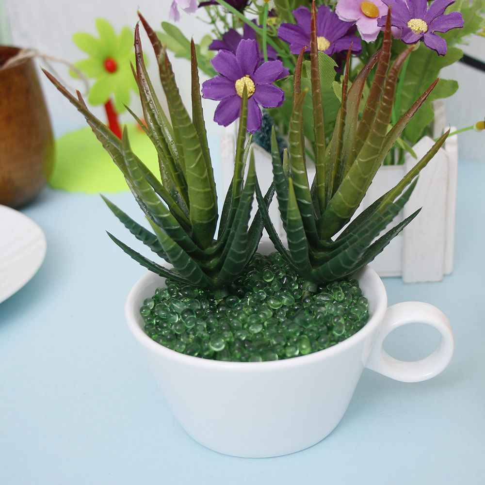 1 sztuk sztuczne soczysty kwiat kwiatowy z tworzyw sztucznych roślin fałszywe Aloe domu ogród wystrój