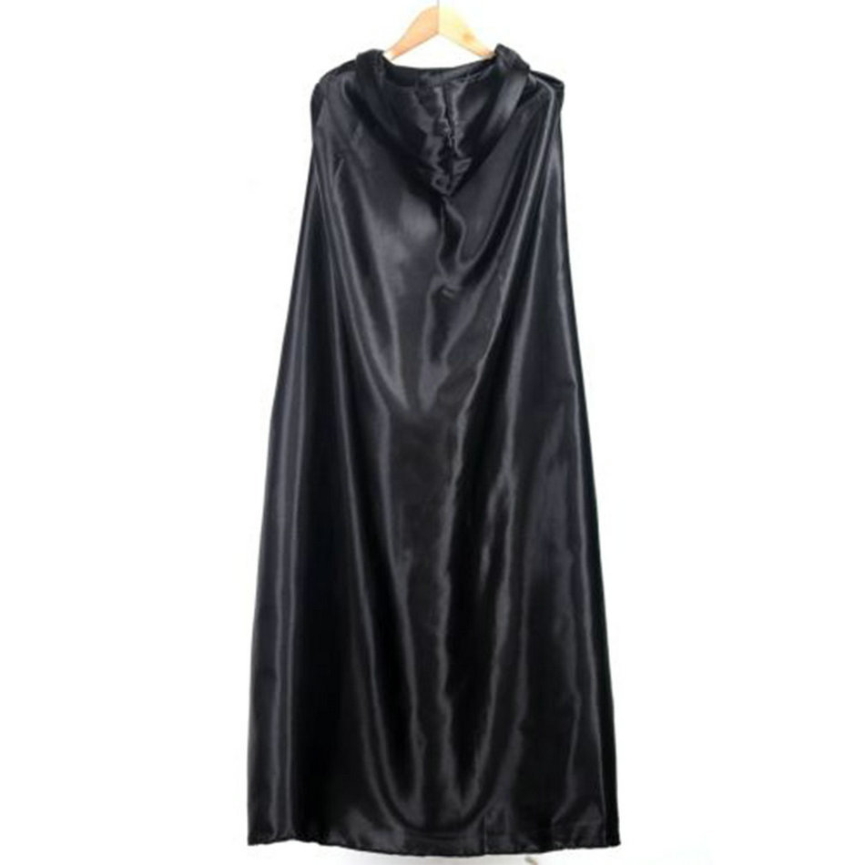Halloween Black Costume Cosplay Theater Prop Death Hoody Cloak Devil Long Tippet Cape Drop Shipping New