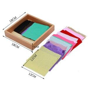 Image 5 - Giocattolo del bambino Scatola di Tessuto Montessori Sensoriali di Stoffa Colorata Originale Educazione della Prima Infanzia I Bambini In Età Prescolare Brinquedos Juguetes